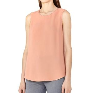 NWT Reiss acorn tank with trim neck coral size 2